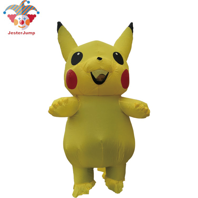Adulte enfant gonflable Pikachu Costume Halloween Anime Cosplay carnaval fantaisie Pokemon mascotte Costume pour enfant hommes femmes Costume