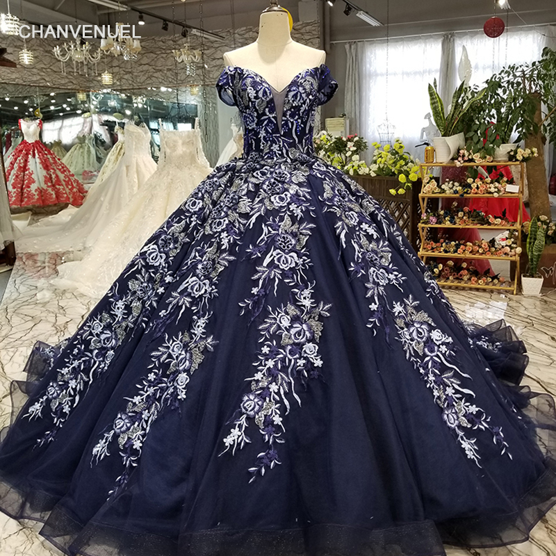 LS98845 navy blue   evening     dress   off shoulder sweetheart lace up ball gown   dress   for sexy mothers floor length or with long train