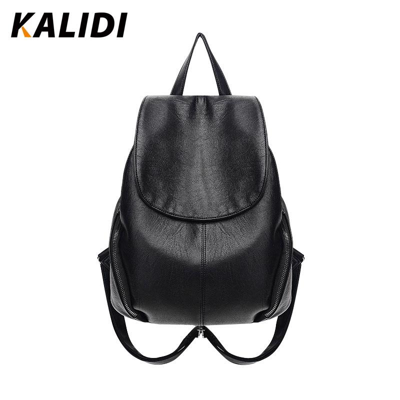 KALIDI Fashion Backpacks Women Black Small Casual Backpacks Shoulder School Bags PU Leather Backpacks Mini Backpack For Gril