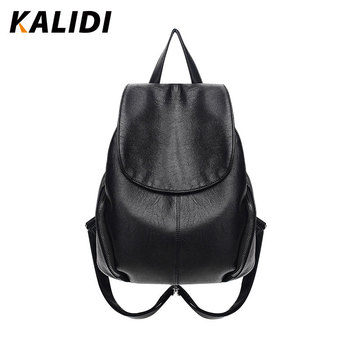 KALIDI Fashion Backpacks Women Black Small Casual Backpacks Shoulder School Bags PU Leather Backpacks Mini Backpack For Gril фото