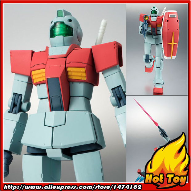 100% Original BANDAI Tamashii Nations Robot Spirits No.209 Action Figure - RGM-79 GM ver. A.N.I.M.E. from Mobile Suit Gundam original bandai tamashii nations robot spirits exclusive action figure rick dom char s custom model ver a n i m e gundam