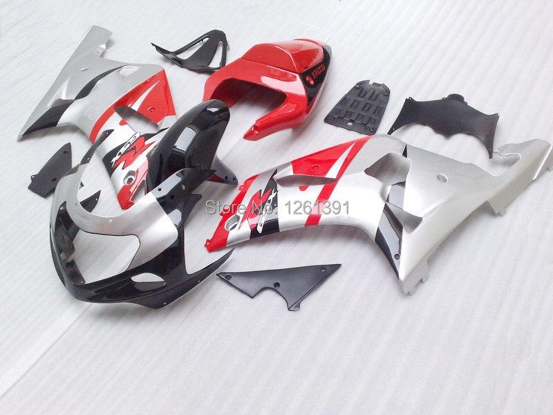 Обтекатель для SUZUKI 2001 2003 GSXR600 750 01 02 03 GSXR600 GSXR750 K1 01 02 03 GSXR 600 750 серебро красно-черные Обтекатели наборы