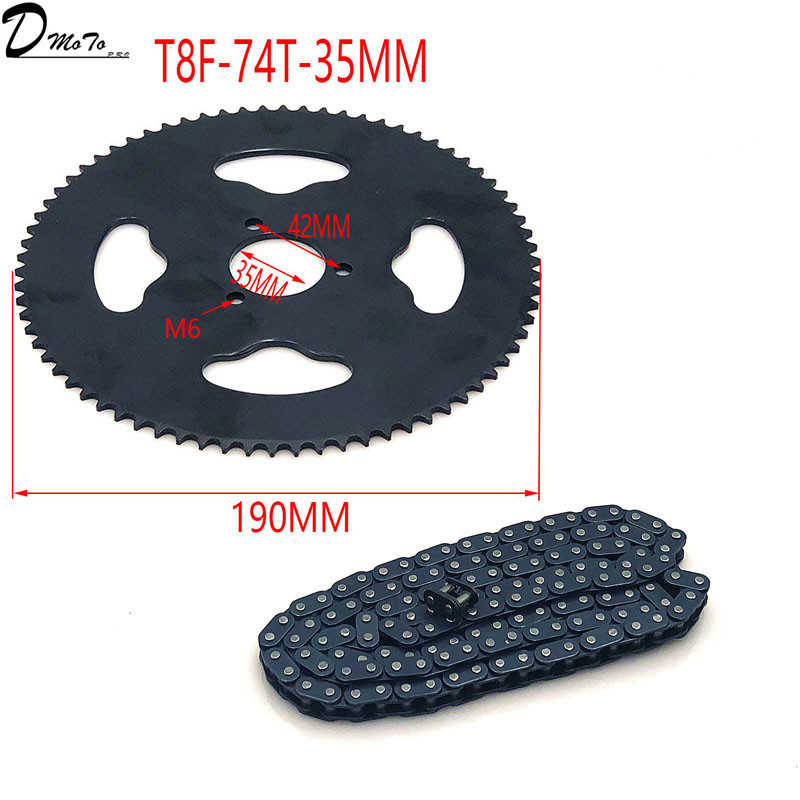 Image 4 - 47cc 49cc T8F chain 136 Links and 38 54 74 teeth Chain plate 