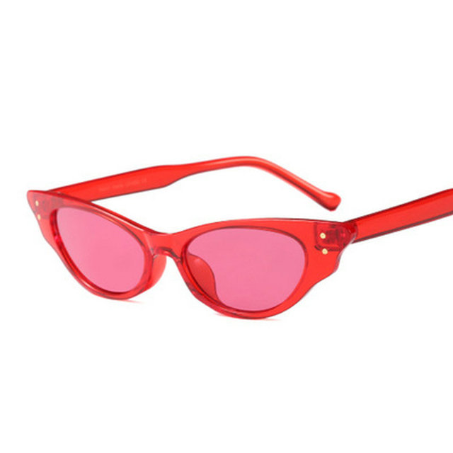 de0fc08ff2 2018 New Red Cat glasses Lady Vintage Retro Rectangular Cat Spectacle Frame  Sunglasses Visor UV400 With Box NX