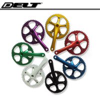 1 Set Fixed gear BIKE Bicycle crank 46T crankset cycle speed Chain wheel Sprocket