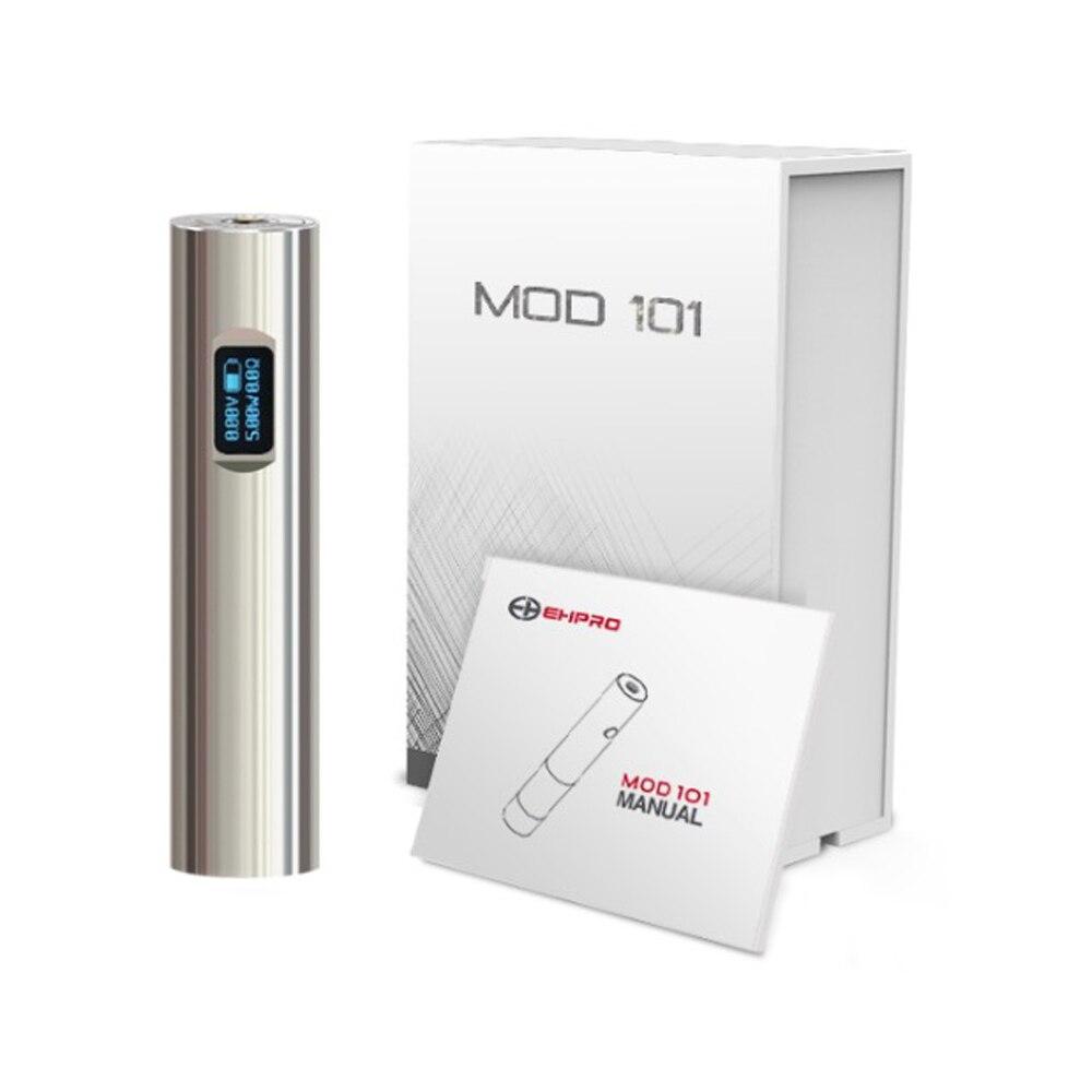 New Original 50W Ehpro 101 Mod 18650 & 18350 Battery Mech Mod NITC/TITC/SSTC/Wattage/By Pass Mode E-cig Mechanical Vape Mod
