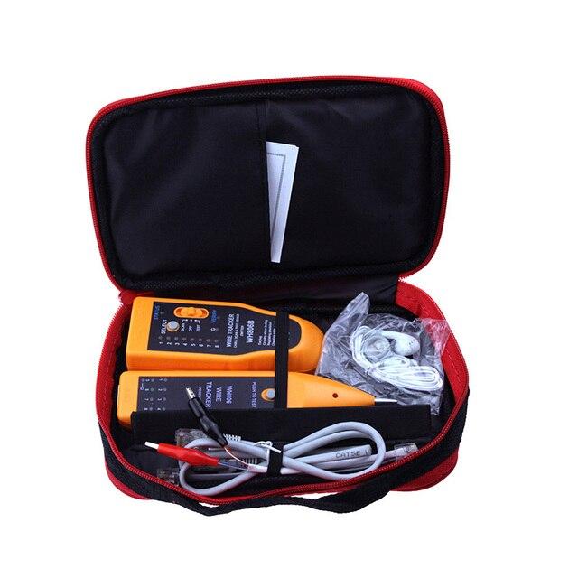 Hot Verkoop WH806B Telefoon Wire Tracker Netwerk Kabel Tester Voor Cat5 Cat5E Cat6 RJ45 RJ11 Elektrische Lijn Vinden Testtools