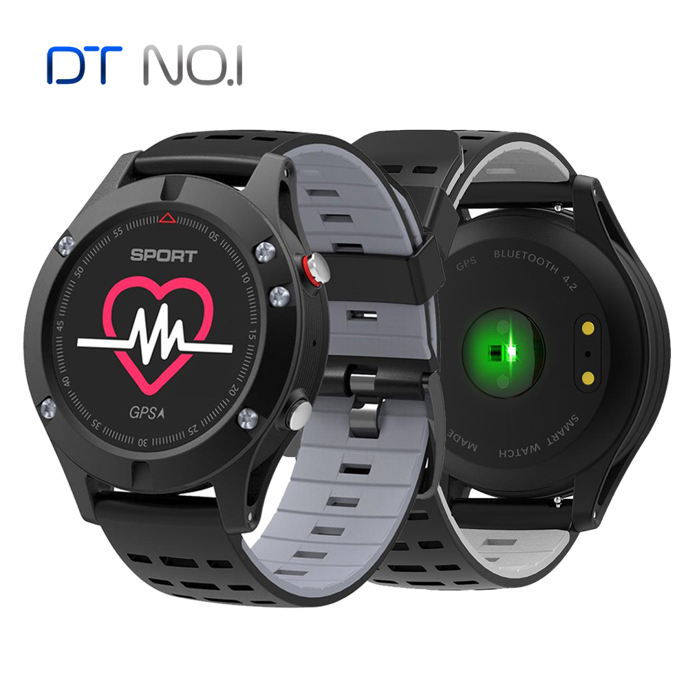 2018 New <font><b>No.1</b></font> <font><b>F5</b></font> GPS Smart watch Altimeter Barometer Thermometer Bluetooth 4.2 Smartwatch Wearable devices for iOS Android image