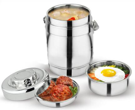 hete verkoop 1,6 liter dubbelwandig roestvrij staal morsbestendig - Keuken, eetkamer en bar