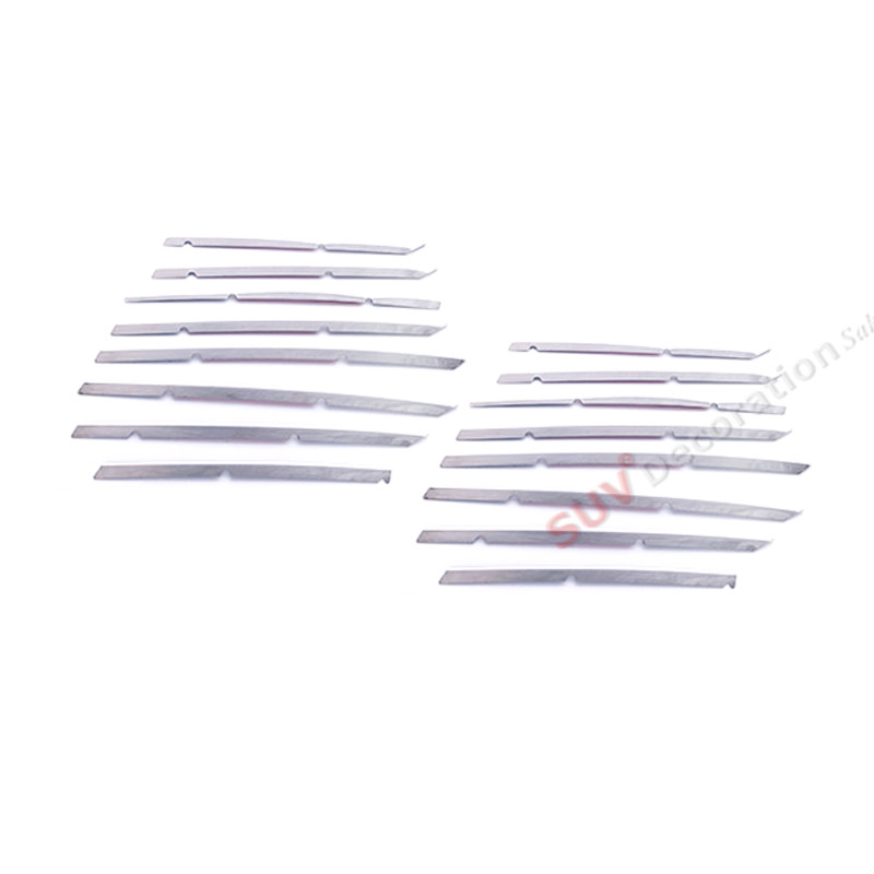 ФОТО New!!!   for Peugeot 3008 GT 3008GT 2016 2017  Stainless steel Front Fog Light Grille Grill Cover Trim 16pcs