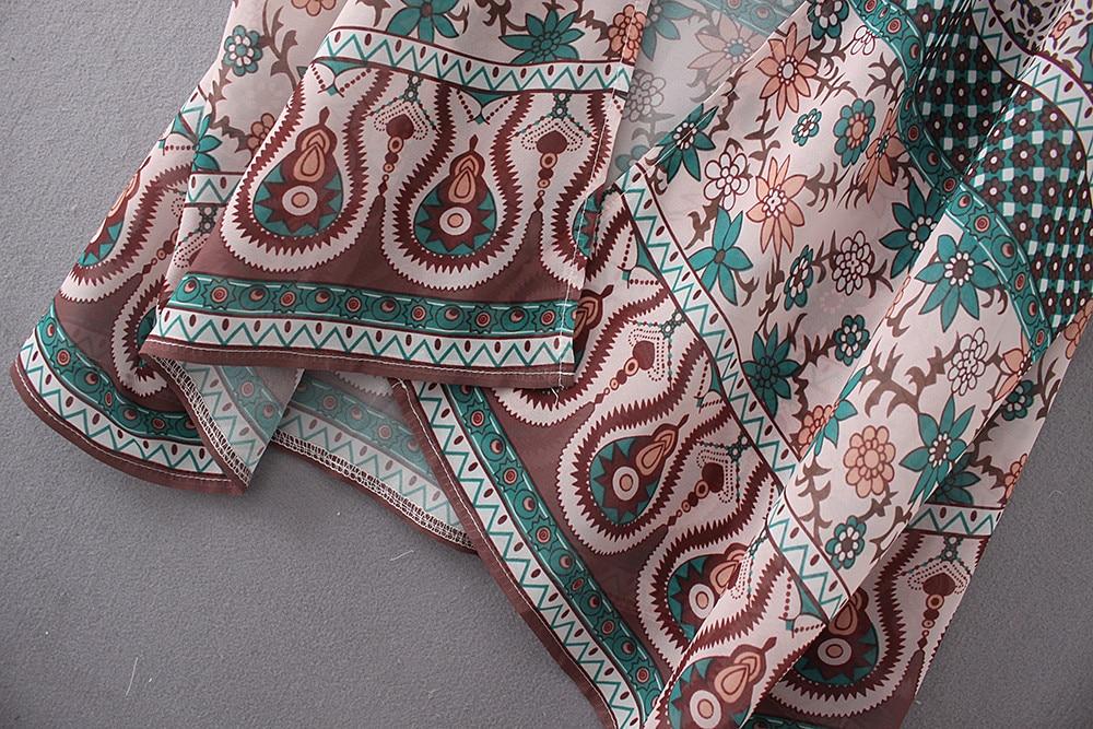 Feitong Vintage Kimono Cardigan Women Long Sleeve Floral Print Chiffon Loose Shawl Tops Cover up Blouse Blusas feminina