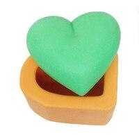 Trasporto libero di figura del cuore modellazione muffa del cioccolato fondente decorazione della torta stampo per sapone fatto a mano stampo di buona qualità