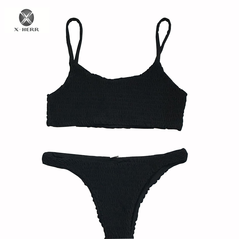 2018 Bandeau Swimwear Women Swimsuit Push Up Bandage Swimming Bathing Suit Brizilian Bikini Set Maillot De Bain Femme hot swimwear women bikini 2017 bandage push up padded swimsuit bathing beachwear maillot de bain femme e5