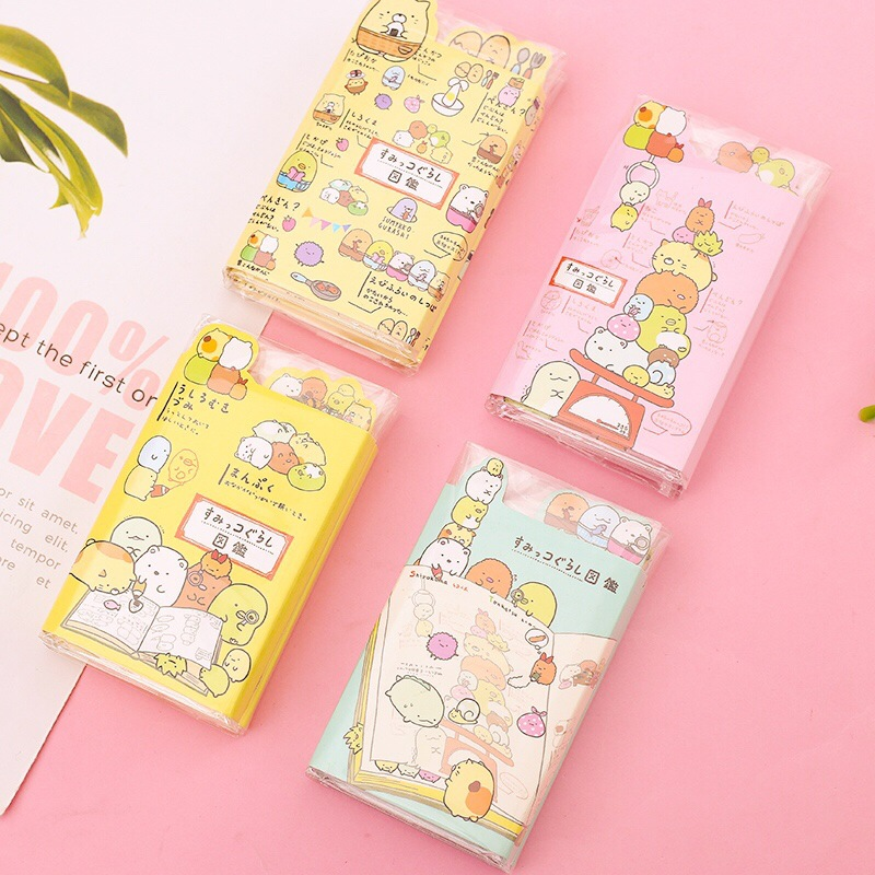New Pattern Sumikko Gurashi 6 Folding Memo Pad N Times Sticky Notes Escolar Papelaria School Supply Bookmark Label(China)