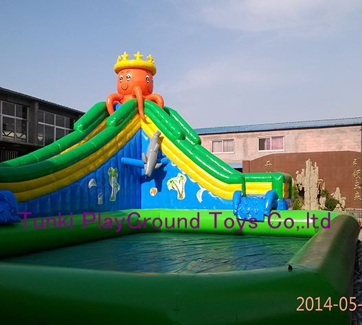 water pool slide commercial backyard inflatable water park for kids