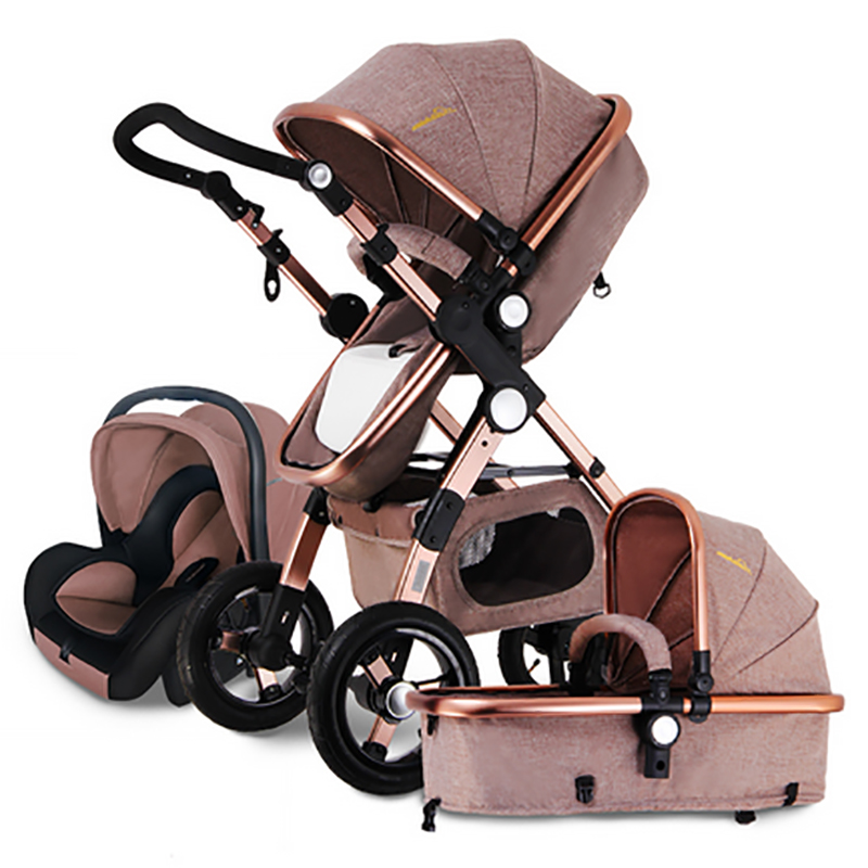 european baby stroller 3 in 1 baby pushchair 3 in 1 high landscape fold strollers for children. Black Bedroom Furniture Sets. Home Design Ideas