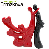 NEO 2 Pc Set Passionate Lover Embrace Couple Figurine Lady Statue Man Ornament Wedding Gift Wine