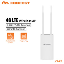 COMFAST 4G LTE نقطة وصول لاسلكية موزع إنترنت واي فاي عالية السرعة في الهواء الطلق التوصيل والتشغيل 4G بطاقة SIM المحمولة راوتر لاسلكي موسع واي فاي CF E5