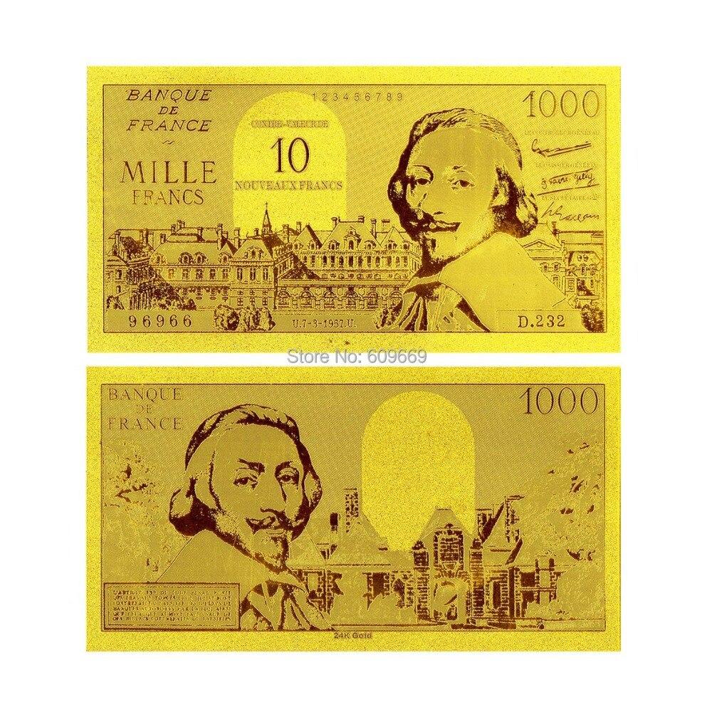 Us 1 Miliar Dolar Uang Kertas 999 24 Karat Foil Emas Berlapis Nilai Mexico 100 Peses 1982 K197 Banque De France 1000 Franc 1956 S Lama Koleksi
