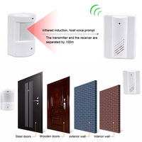 Wireless Alarm Home Anti Theft Alert System Driveway Patrol Infrared Detector Detection Motion PIR Sensor Security