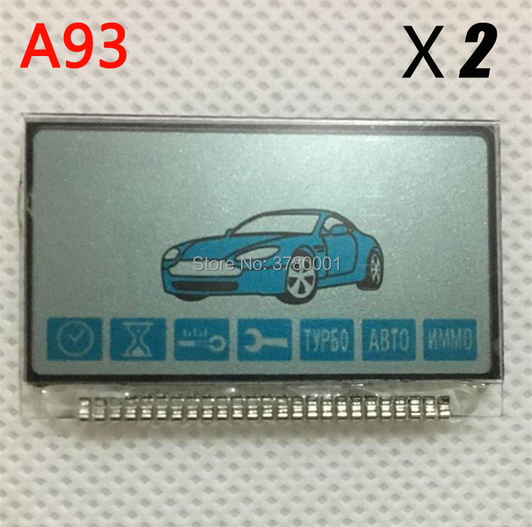 2PCS/lot Russian A93 LCD Display With Metal Foot For Two Way Car Alarm StarLine A93 A63 2-way LCD Remote Control