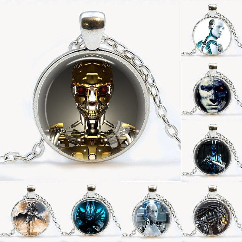 New hot unique charming retro retro metal robot pendant for Unique handmade jewelry wholesale