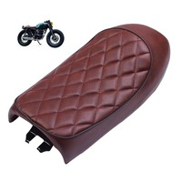 Motorcycle Cafe Racer Seat Refit Vintage Hump Saddle Flat pan Universal Retro Bobber Seat Cushion For GN CB350 CB400 CB500