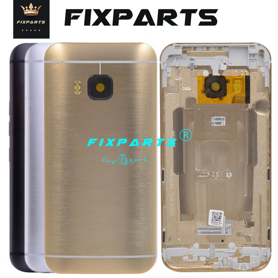 NEW Back Cover For <font><b>HTC</b></font> <font><b>One</b></font> <font><b>M9</b></font> <font><b>Battery</b></font> Cover Rear Housing Door <font><b>Case</b></font> + Power Volume Button Key+Rear Camera Glass Lens Replacement image