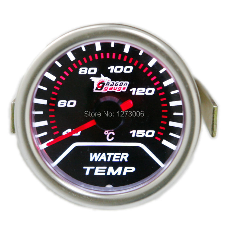 DEPO 52mm Digital Racing Red White LED Digital Water Temp Gauge Fahrenheit