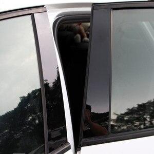 Image 4 - 자동차 창 센터 기둥 스티커 트림 외부 장식 필름 자동차 액세서리 포드 포커스 2 mk2 3 mk3 fiesta escort ecosport