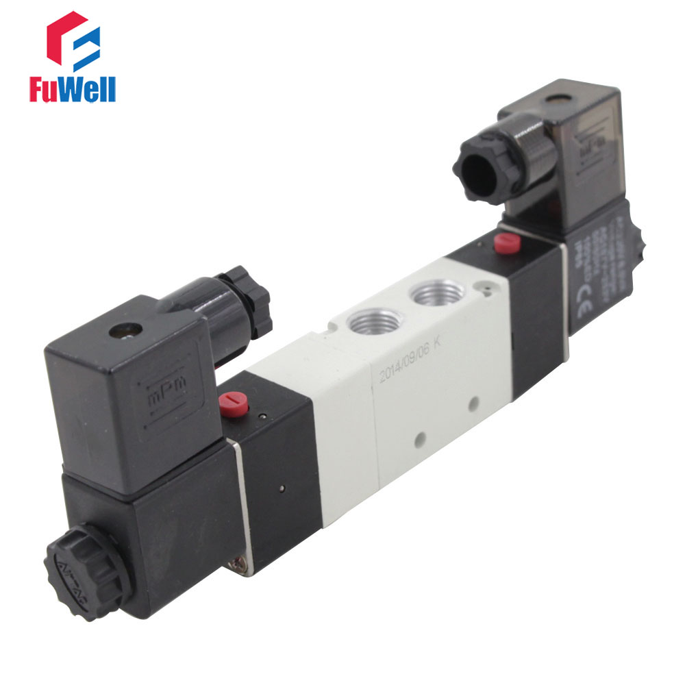 Pneumatic Solenoid Valve 4V230C-08 DC24V Air Valve 5 Ports 3 Positions PT1/4 Aluminum Alloy Pneumatic Component new n9400gt md1gt n9400gt td1g n9500gt graphics card fan rk7015b diameter 65mm 12v 0 14a