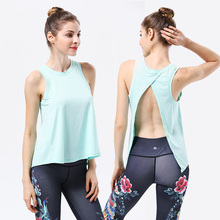Sexy Backless Women Yoga Top Sport Shirt Gym Sleeveless Running T Workout TShirt