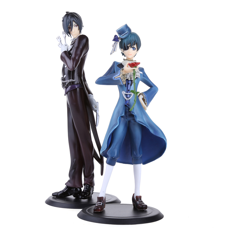 Anime Black Butler Ciel Sebastian PVC Action Figures Collectible Toys 2pcs set BBFG007
