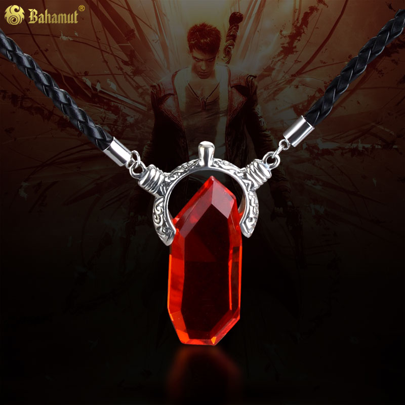 все цены на DMC Devil May Cry Dante Vergil Crystal Plated Pendant Necklace Game Jewelry Devil May Cry Dante Necklace High Quality
