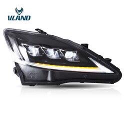Vland Factory автомобильные аксессуары Головной фонарь для Lexus IS250 2006-2012 полный светодиодный головной светильник с последовательным индикатором