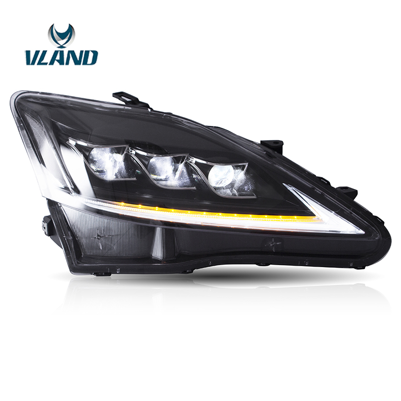 Vland Factory Head Lamp For Lexus- IS250 350  2006-2012 Full LED Head Light With Sequential Indicator