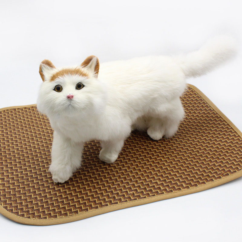 HSWLL Pet bamboo mat mat pet supplies summer cool pad small medium and large cat dog summer mat