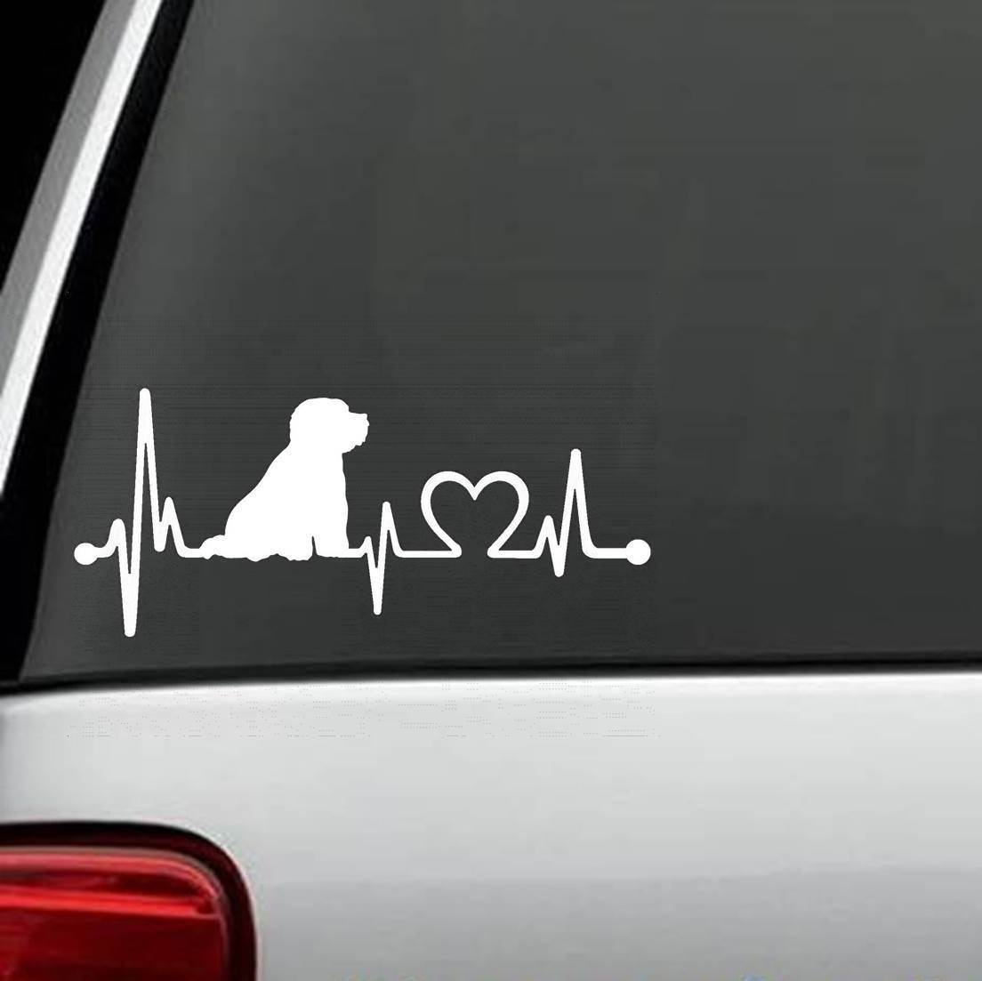 Frise Sticker For Bichon Frise Heartbeat Lifeline Monitor Dog Decal Sticker Car Styling