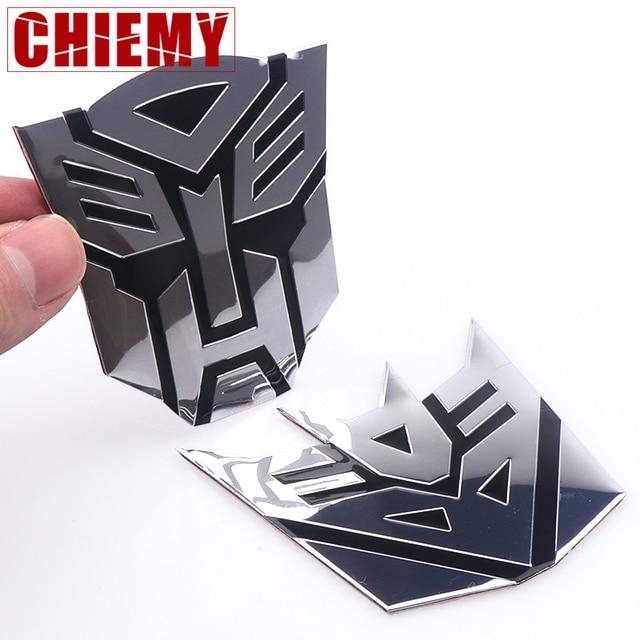 Car styling 3D liga de Alumínio Transformadores Autobot Emblema Traseiro Do Emblema Etiqueta Do Carro Para O telefone Móvel laptop Moda decoração