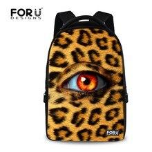 Большая Емкость Девочек-Подростков Школьного Рюкзака Leopard Eyes Печати Mochila Рюкзак для Женщин Высокого Качества Леди Ноутбук Backbag