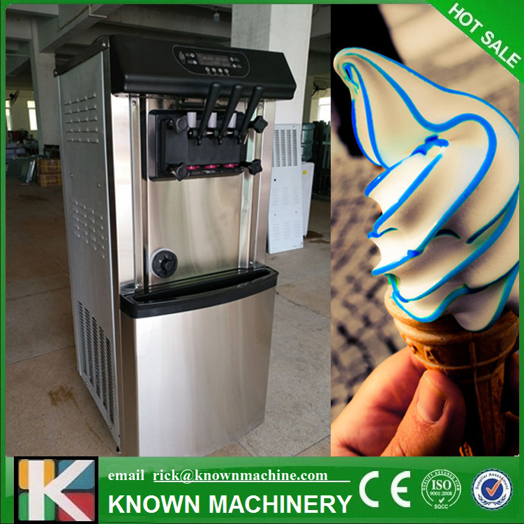 2200W Commercial Soft Ice Cream Machine Automatic Ice Cream Maker Intelligent Soft Serve Ice Cream Machine eu popular soft serve ice cream maker machine desk top ice cream machine for sale