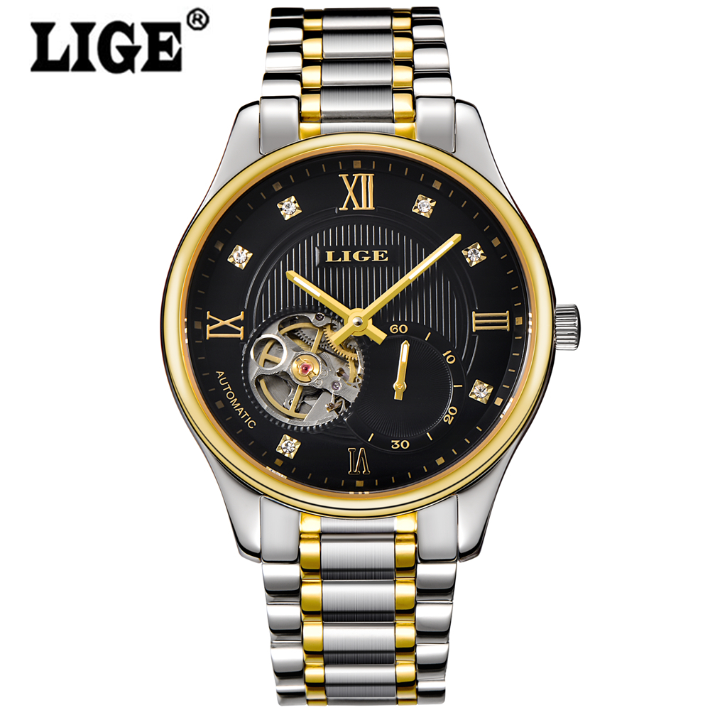Montre Homme Watches men LIGE brand Casual Mechanical Watch reloj hombre Stainless male gold wristwatches relogio masculino geneva brand binger fashion sport men watch leather quartz watch casual watches hour montre homme relogio masculino reloj hombre