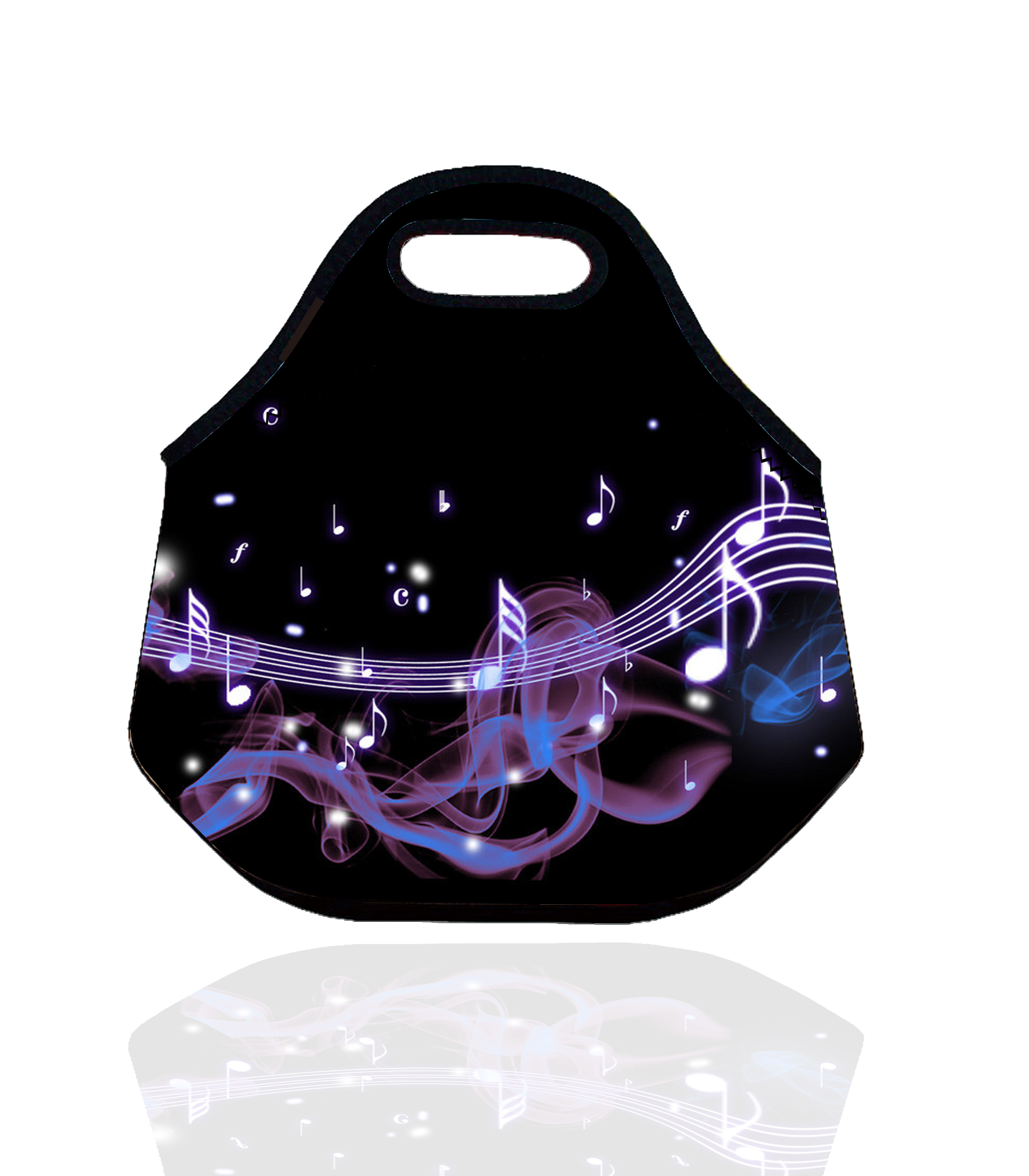 Music style Neoprene Thermal Insulated Lunch Bag for Women Kids Lunch bags Tote With Zipper storage box vacuum Bag bolsa termica