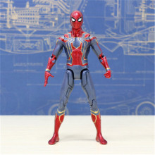 все цены на 9inch/23cm Marvel Avengers Infinite War Spiderman Super Hero PVC Action Figure Model Toy онлайн