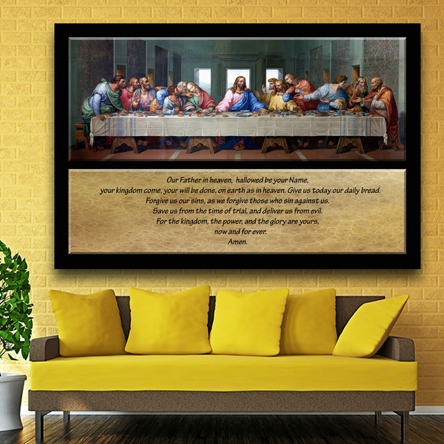 Large size Oil Painting Picture Famous Painting The Last Supper ...