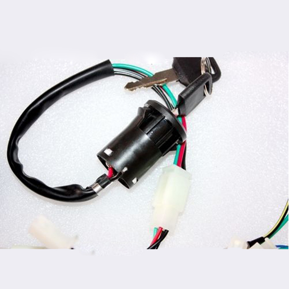 hight resolution of  sincgars full electrics wiring harness coil cdi spark plug kits for 50cc 70cc on series and parallel 90cc