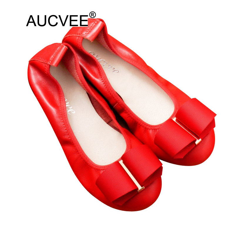 High Quality Genuine Leather Mother Shoes Fashion Bow Round Toe Slip-on Ballet Flats Ladies Casual Cow Leather Flats Size 34-43 new round toe slip on women loafers fashion bow patent leather women flat shoes ladies casual flats big size 34 43 women oxfords