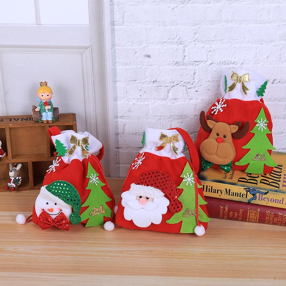 Cloth Christmas Gift Bag Candy Bag Merry Christmas Candy Bags ...