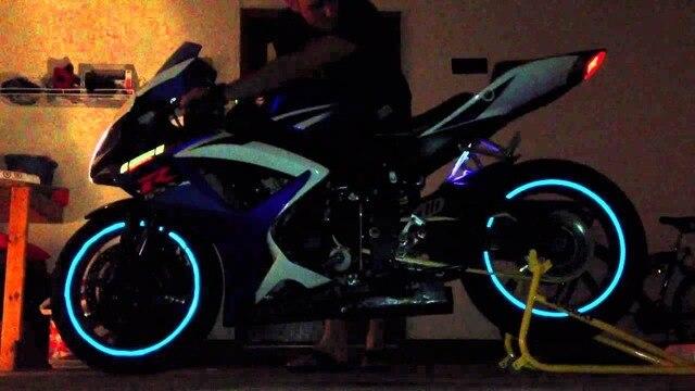 16 ชิ้นรถจักรยานยนต์กันน้ำสากลล้อสติกเกอร์สะท้อนแสง Moto จักรยาน Decal 17/18 สำหรับ Honda YAMAHA SUZUKI 5