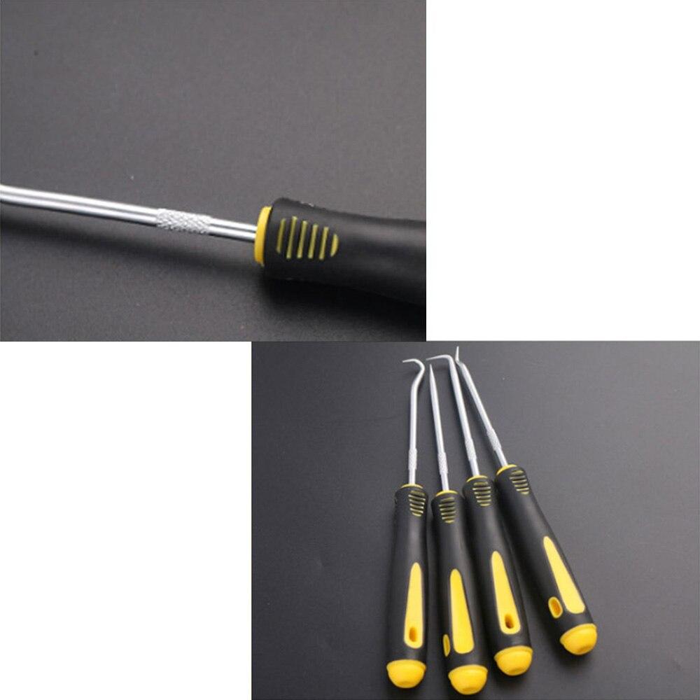 Купить с кэшбэком 4pcs Set Good Quality  O-Ring Oil Seal Tools Scraper Removal Hook Tool Extractor Puller Rubber Screwdriver Hand DIY Tools